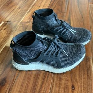Ultra boost uncaged, black, high top
